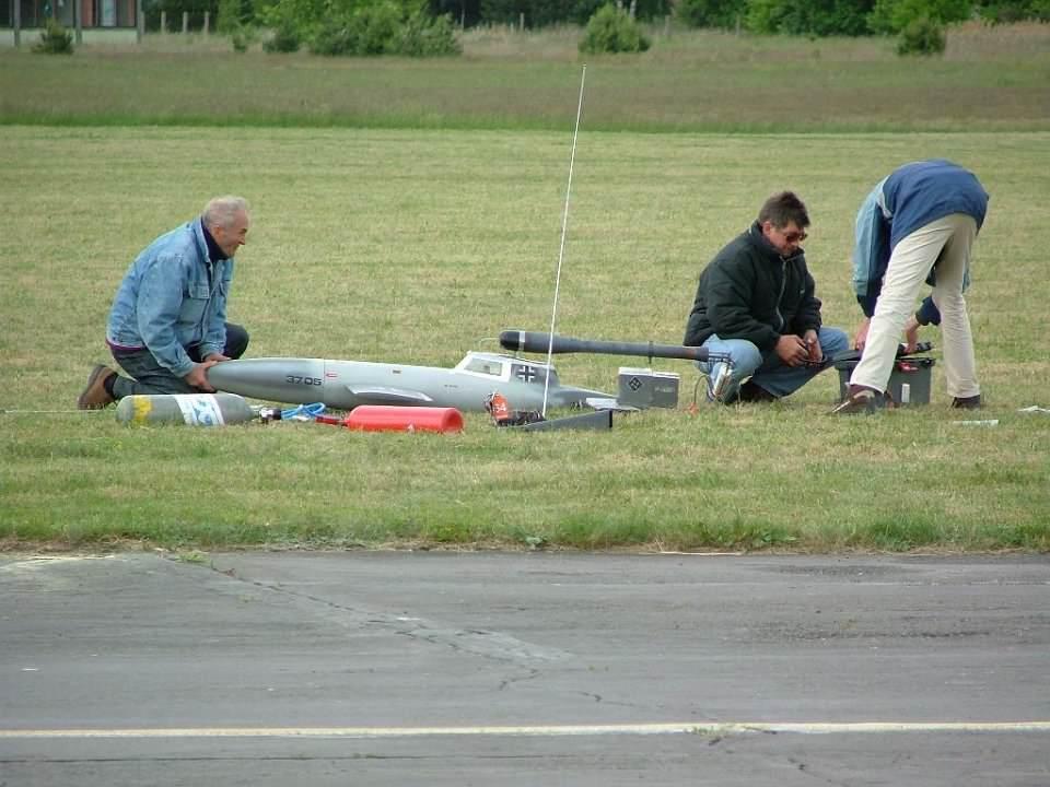 Roland bei den Startvorbereitungen